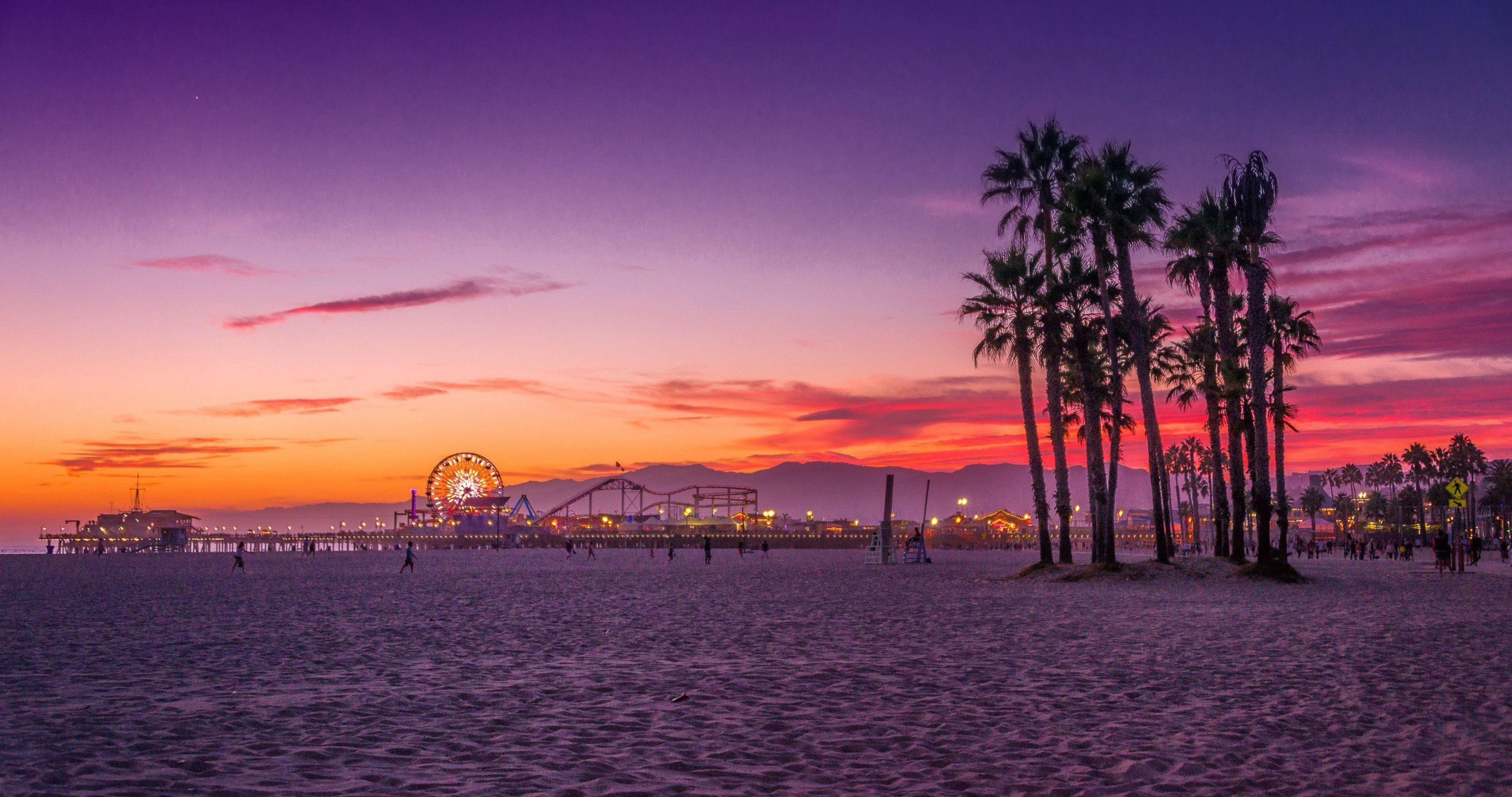 Los Angeles Santa Monica Beach California Wallpaper Los Angeles Wallpaper Los Angeles Beaches