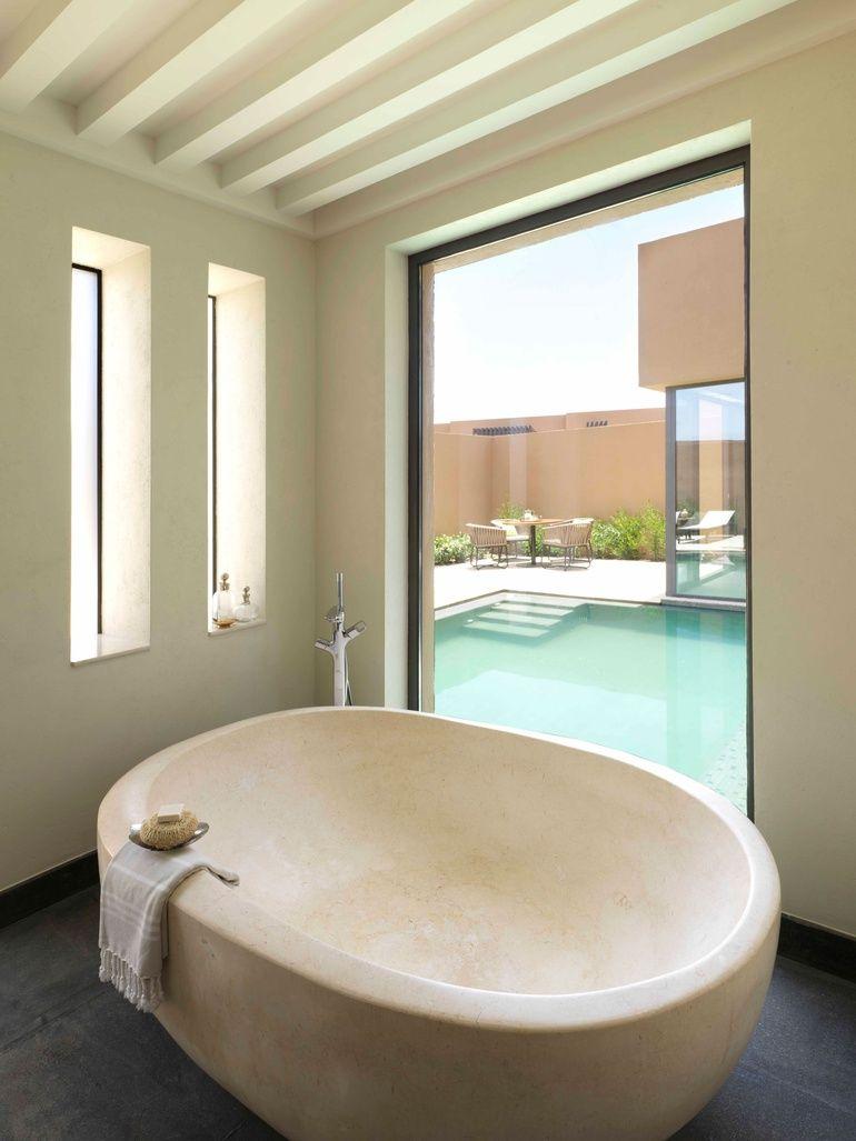 Atelier Pod Designs Luxury Hotel In Oman Bathtub Remodel Bathtub Design Sophisticated Bathroom