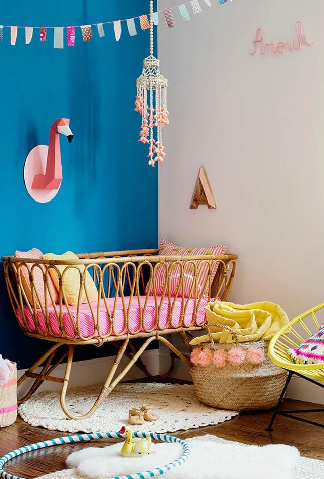 chambre b b tropicale chambre enfants chambre enfant. Black Bedroom Furniture Sets. Home Design Ideas