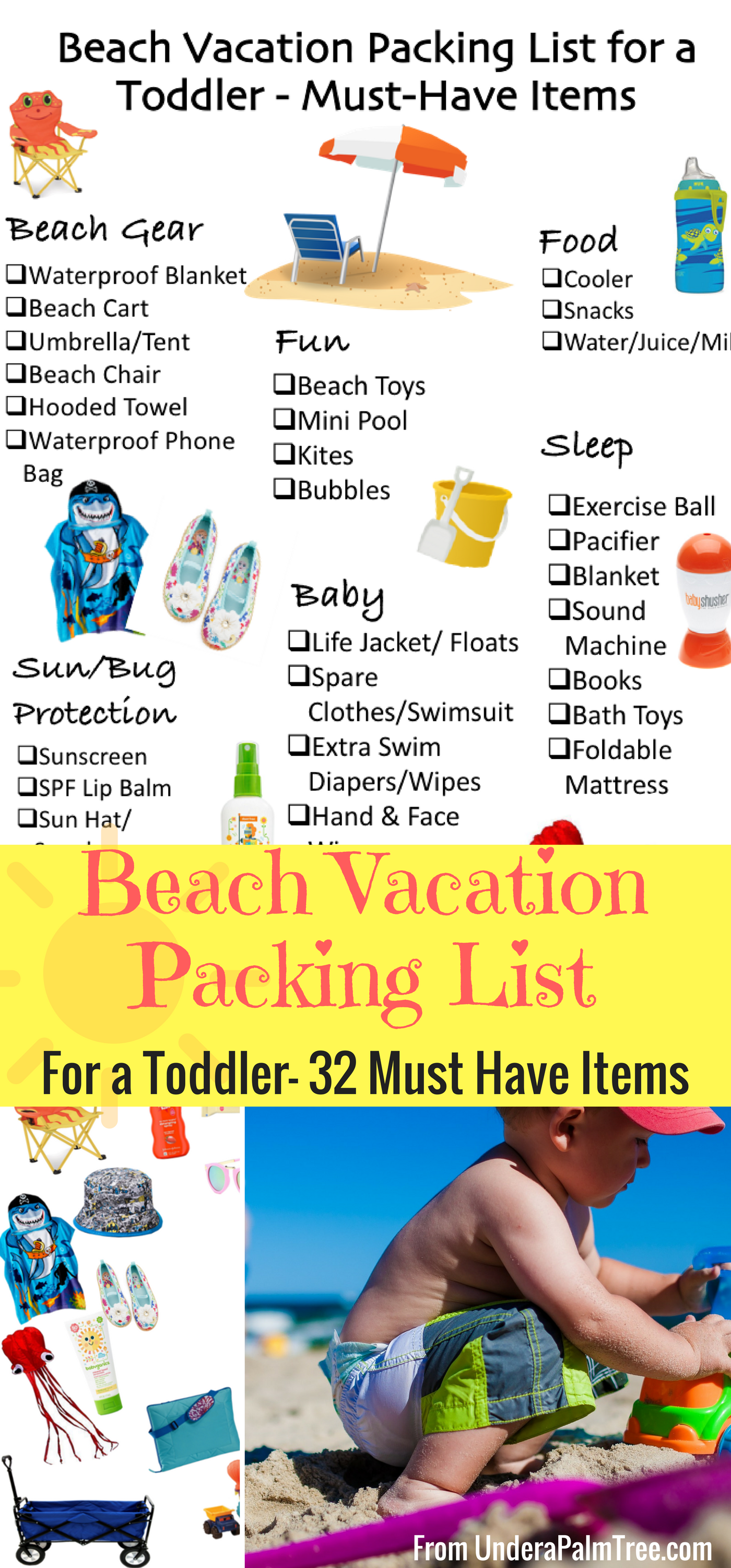 Beach Vacation Packing List for a Toddler < From Under a Palm Tree