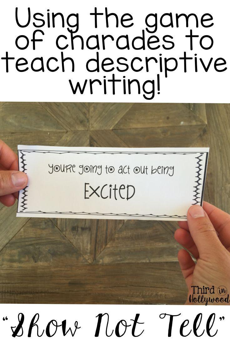 show not tell descriptive writing mini unit literacy language show not tell descriptive writing
