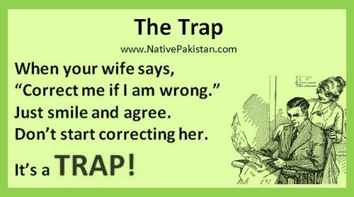 Best Jokes In English Wifes Trap Husband Wife Jokes In