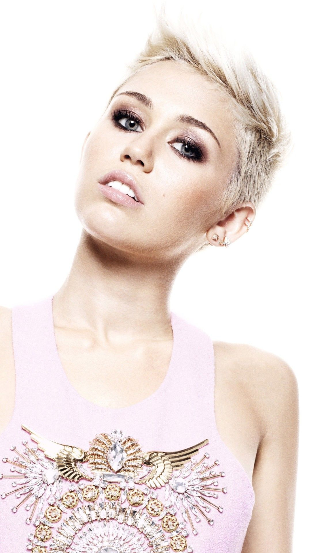 Wallpaper Phone Miley Cyrus Full Hd Miley Cyrus Blonde Singer Miley