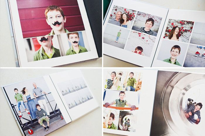 Annual family album or Mark's Baby book The Modern Family Album for Photoshop | Design Aglow