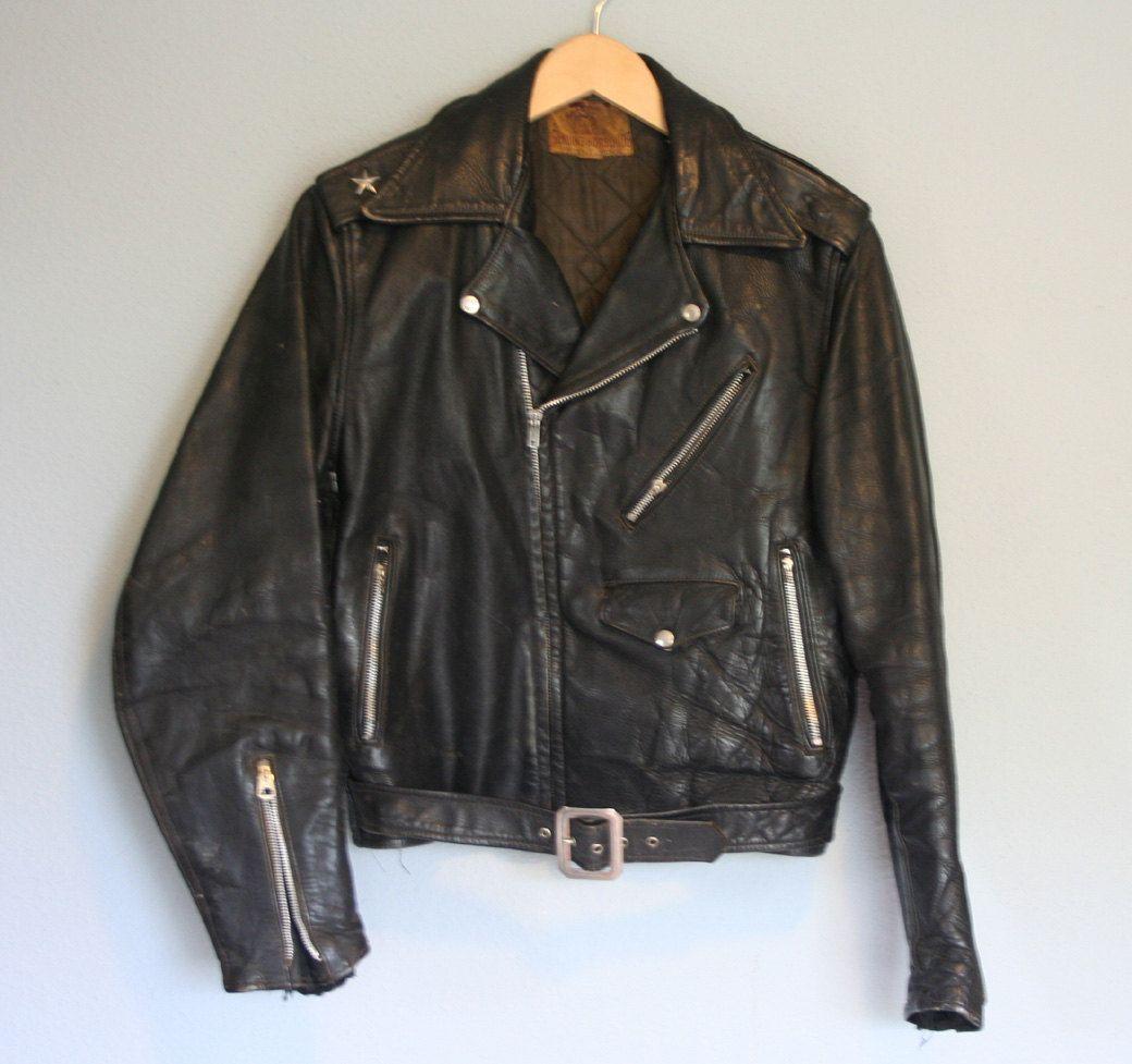 Classic Vintage 50s 60s Horsehide Leather Biker Jacket Looks