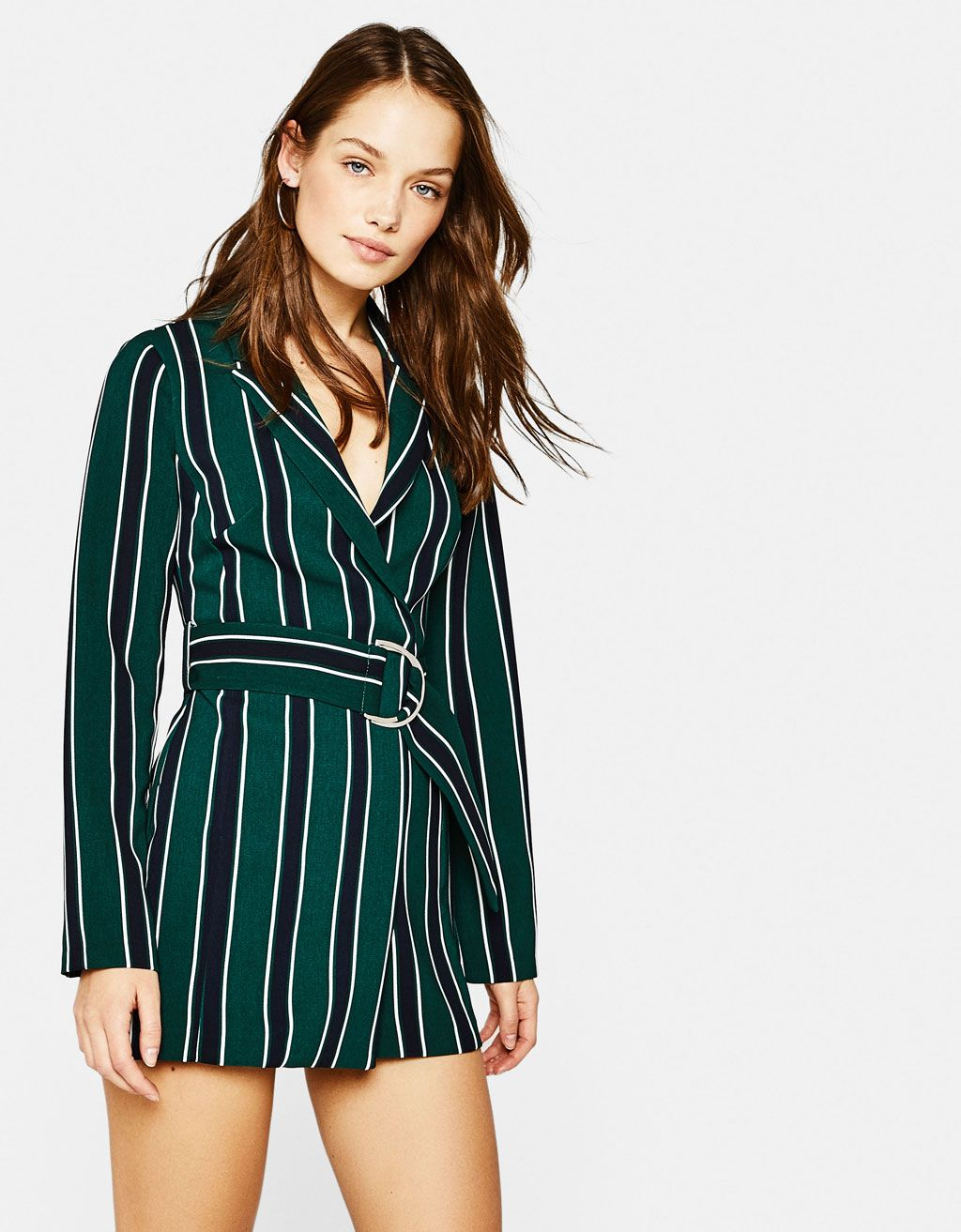 863d80be0e50 Blazer-style romper with belt. Discover this and many more items in Bershka  with new products every week