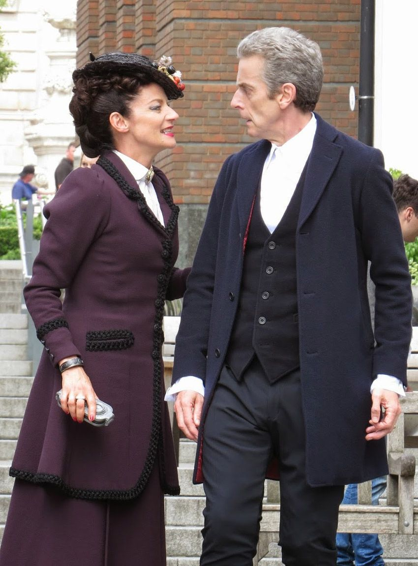 The Doctor and Missy (who is so fine she blows my mind ...
