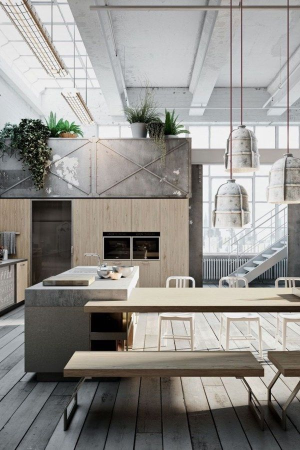 stunning industrial kitchen decor designs that you can create for your urban lifestyle design   living room colour also rh pinterest
