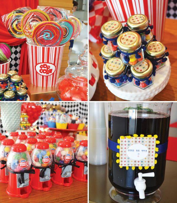 Bright bold circus party ideas circus decorations and circus party - Carnival theme decoration ideas ...