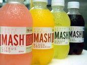 Mash water drinks: Pink Grapefruit & Citrus Zing; Ripe Mango & Blood Orange; Lemon Peel & Ginger Root; Pommegranate & Blueberry.