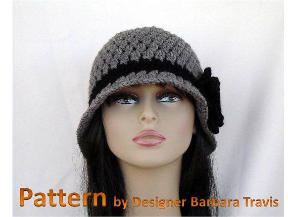 Crochet Pattern Classic Cloche with Flower H1006 by TTBPatterns, $5.00