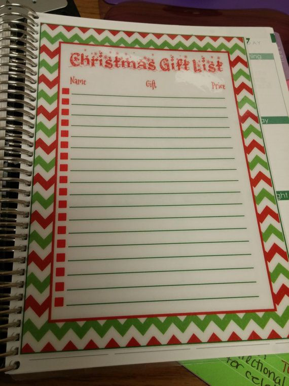 Christmas list dashboard for erin condren life planner https://www.etsy.com/listing/207884504/laminated-christmas-list-dashboard
