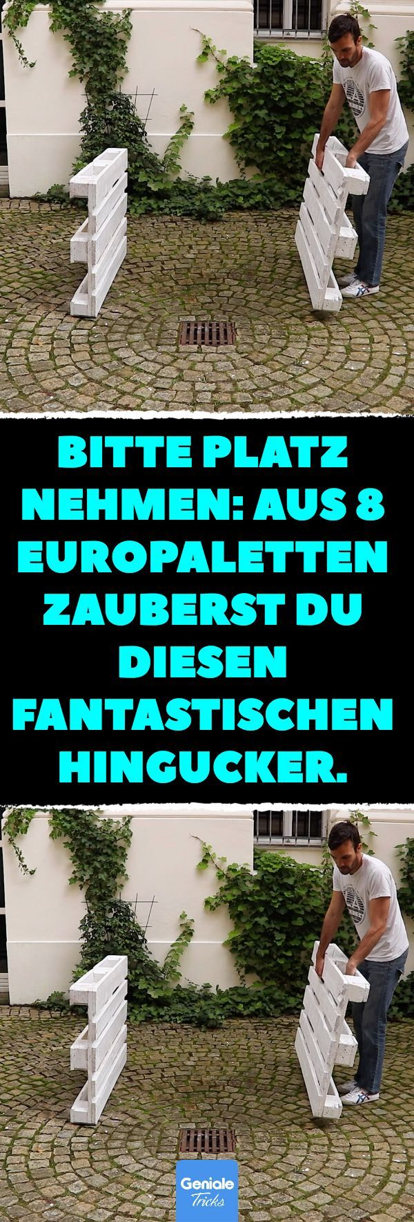 Bitte Platz Nehmen Aus 8 Europaletten Zauberst Du Diesen Fantastischen Hingucke Bitte Platz Nehm Europaletten Garten Europalette Mobel Garten Paletten Garten