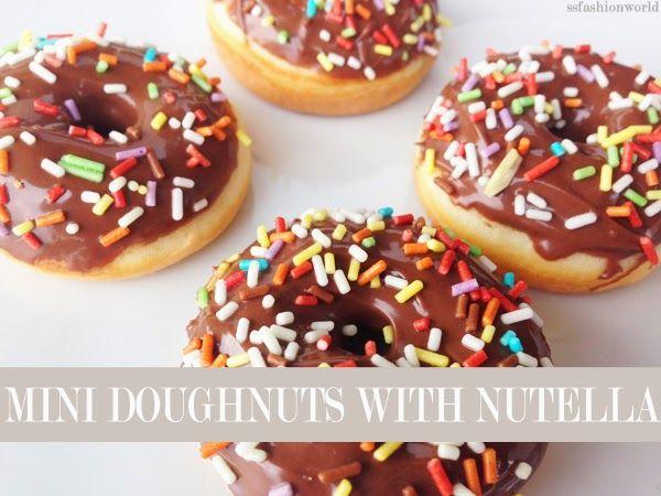 RedHead Learning How To Cook: Mini Doughnuts #recipe #minidoughnuts #doughnut #nutella #cooks #kids #lazy #diy