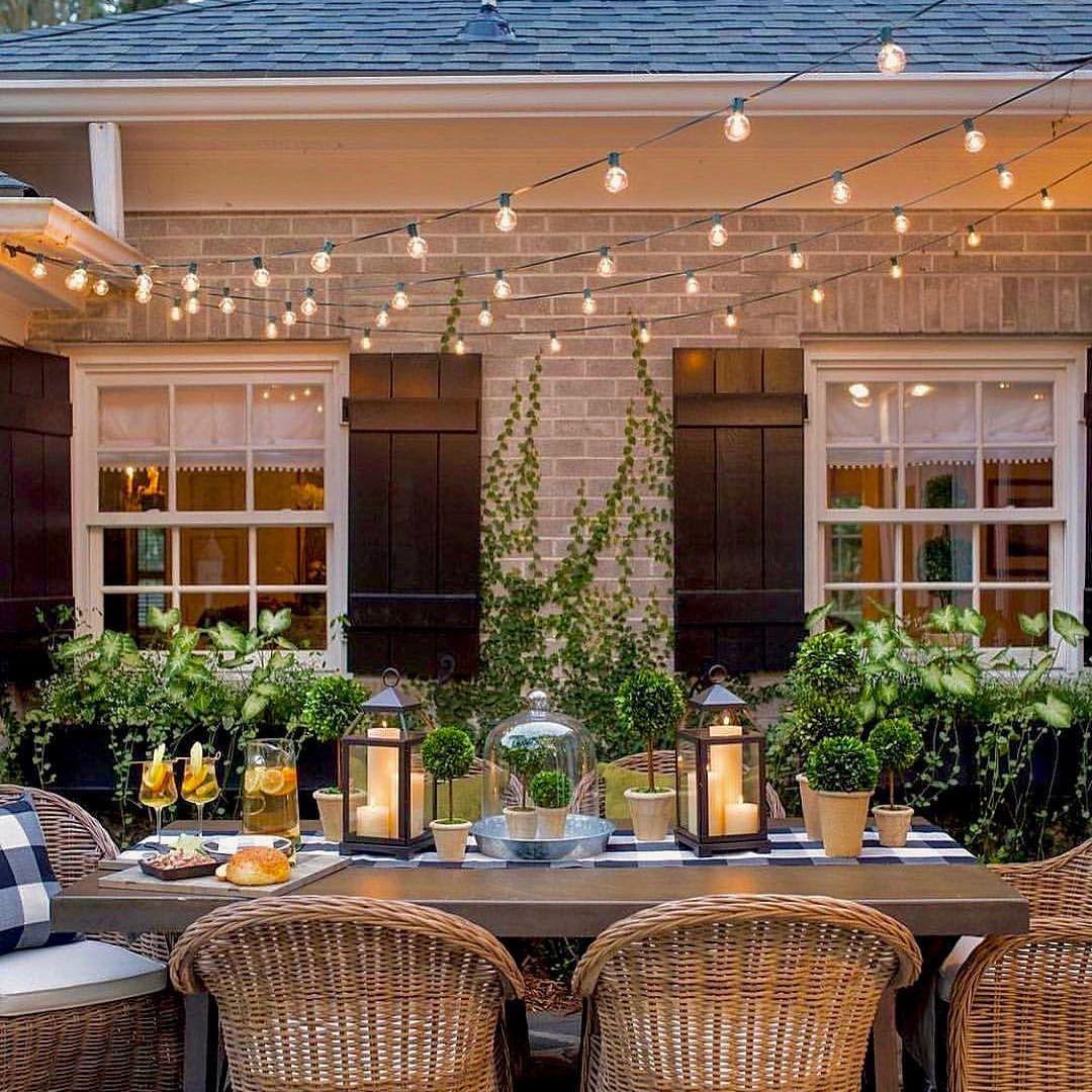 twinkling courtyard goals beautiful garden via meineart dp