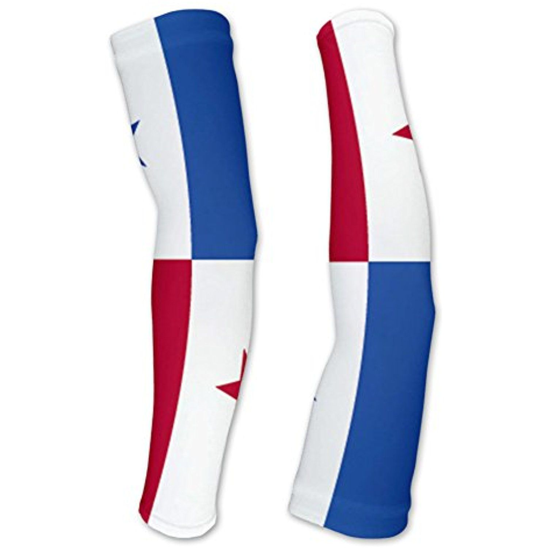 Panama Flag Compression Arm Sleeves Uv Protection Unisex Walking Cycling Running Golf Baseball Baske Compression Arm Sleeves Panama Flag Arm Sleeve