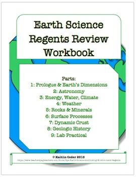 earth science regents review workbook editable with answers earth science. Black Bedroom Furniture Sets. Home Design Ideas