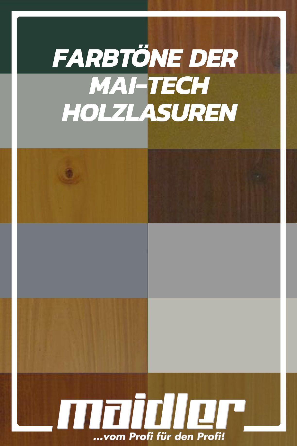 Unsere Mai Tech High Solid Holzlasuren Sind In Den Zwolf