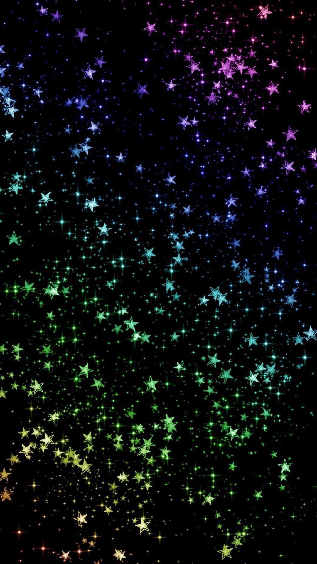 Rainbow colored stars sparkle Sparkle wallpaper