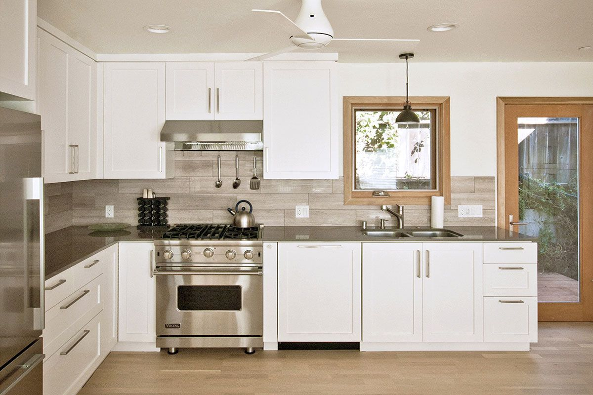 Uncategorized Cottage Kitchen Backsplash contemporary custom kitchen with quartz counters limestone backsplash shaker details