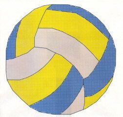 Волейбольный мяч вышивка