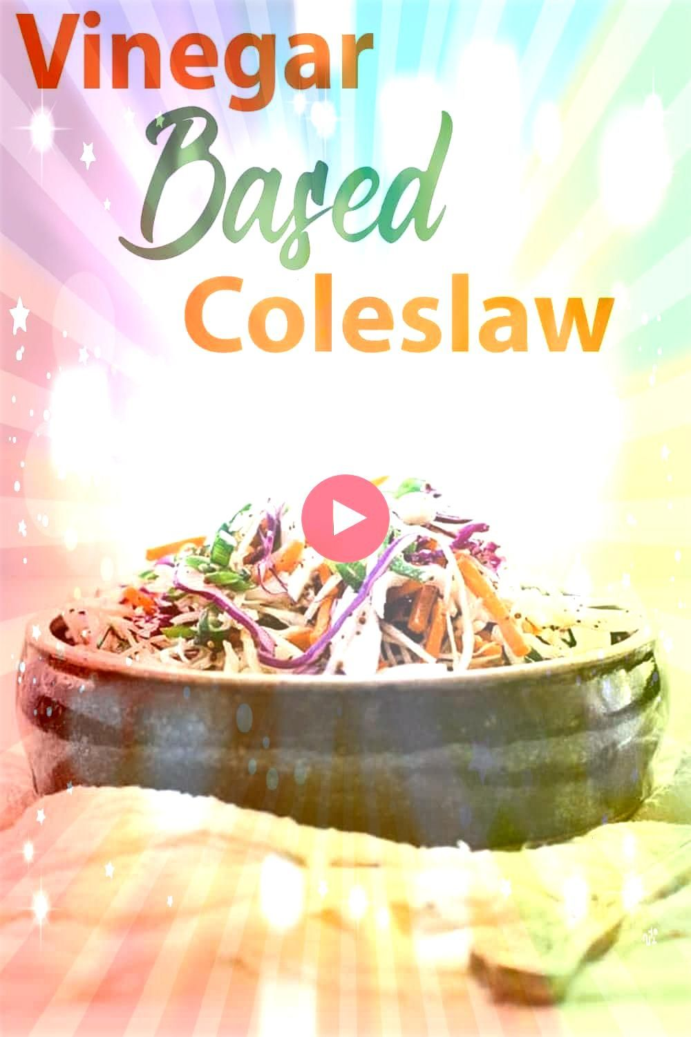 Based Coleslaw Recipe  this delicious coleslaw is loaded with green cabbage red cabbage carrots and green onions in a tasty sweet cider vinaigretteVinegar Based Coleslaw...