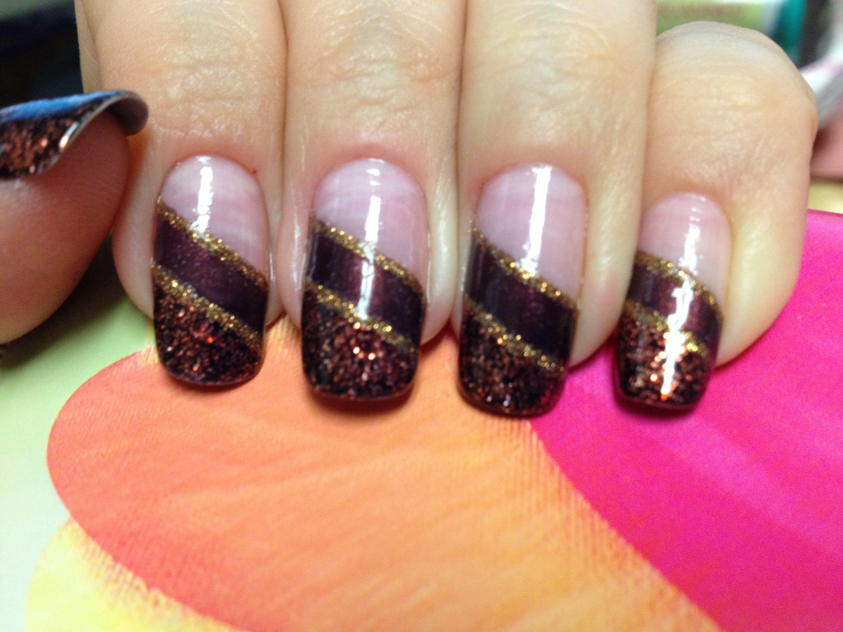 Fall nail design | Nails | Pinterest | Fall acrylic nails ...