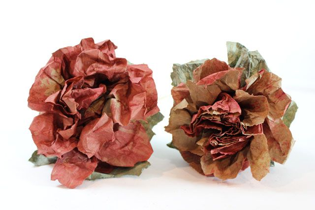 Roses Made From Brown Paper Bags Crafts Paper Bag Flowers