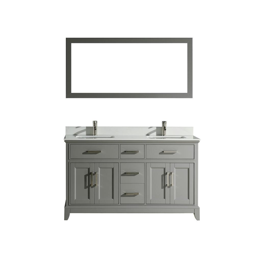 Vanity Art Genoa 60 In W X 22 In D X 36 In H Bath Vanity In