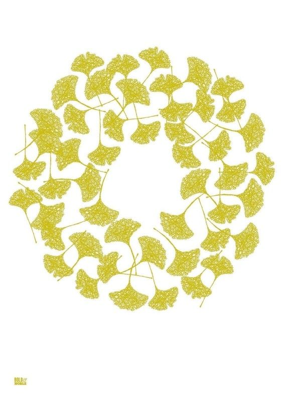 Ginkgo Screen Print, Leaves Screen Print, Leaves Wall Art, Nature ...