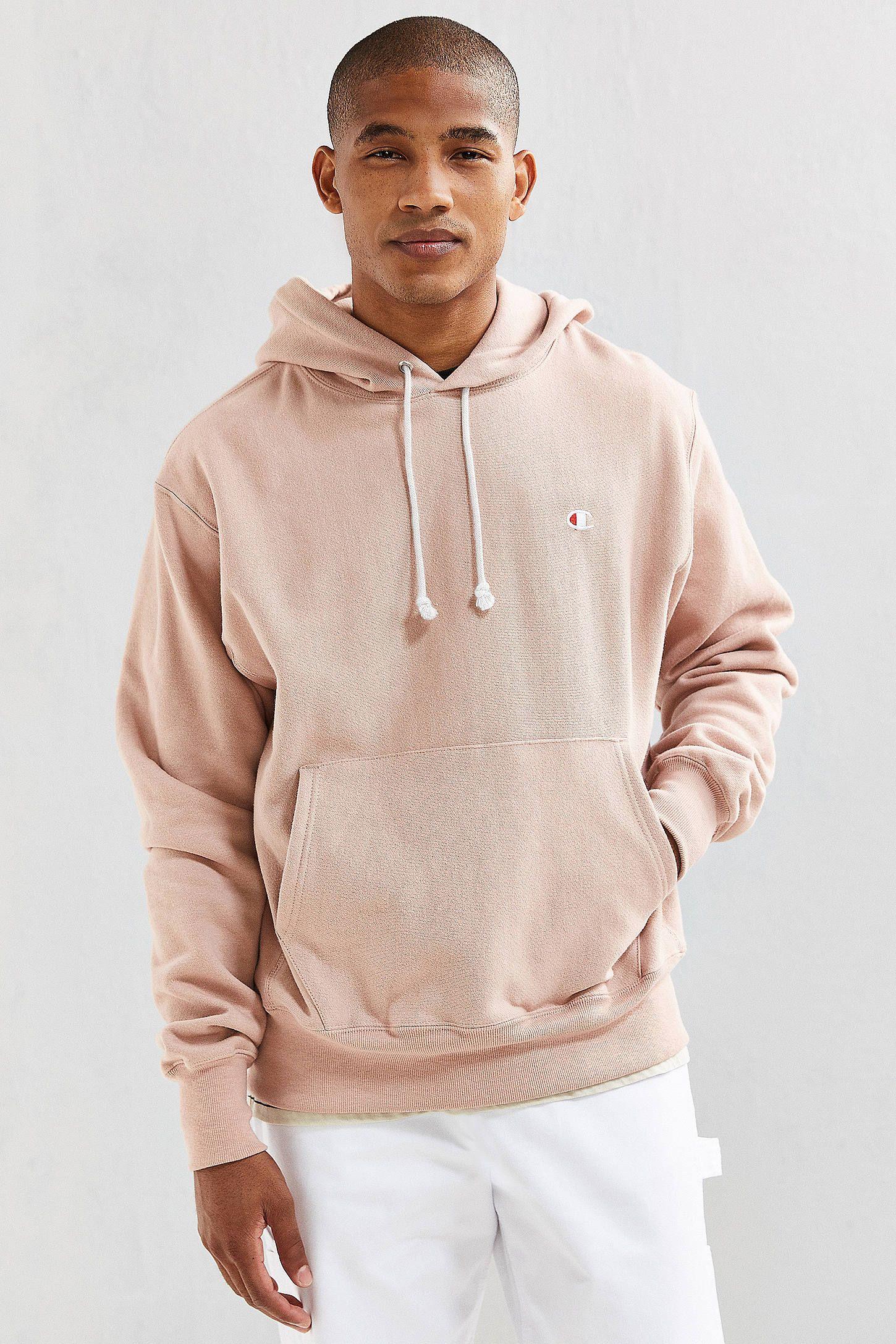 Champion Pink Reverse Weave Hoodie Sweat Capuche Homme Sweat Capuche Tenues Mode [ 2175 x 1450 Pixel ]