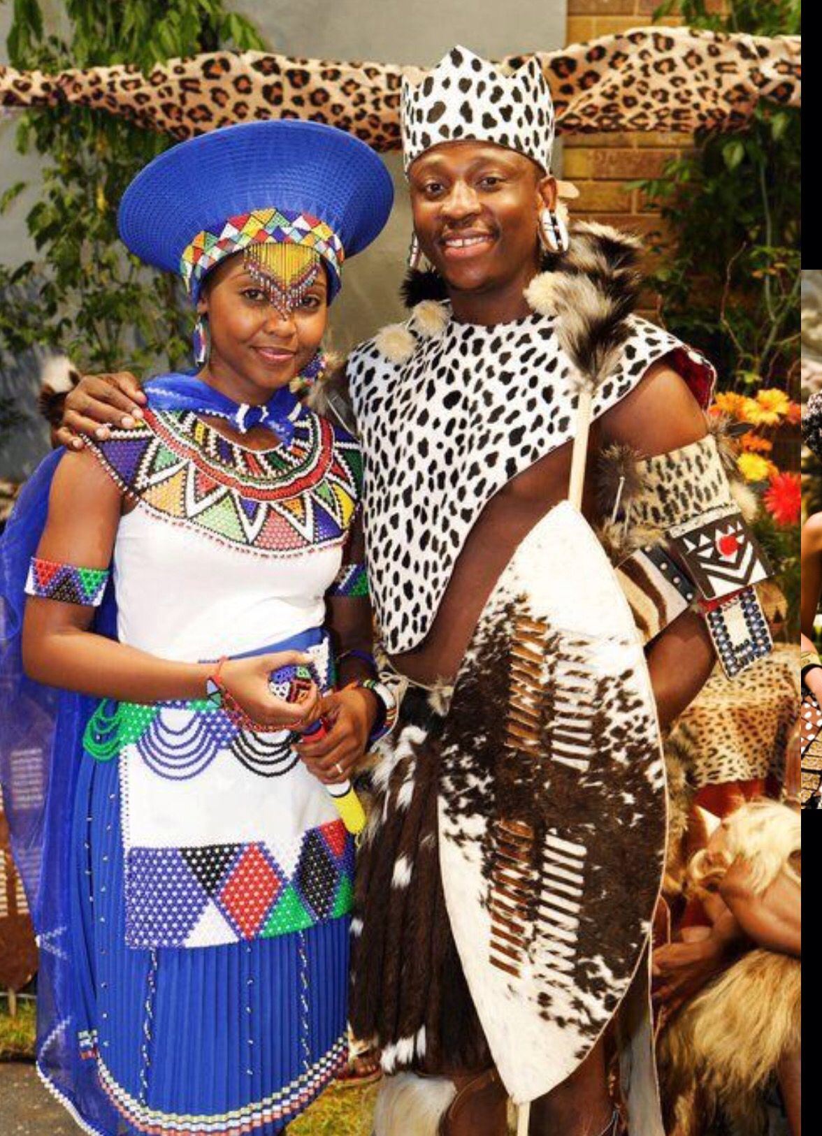 Modern Zulu Bride And Groom. African traditional wedding