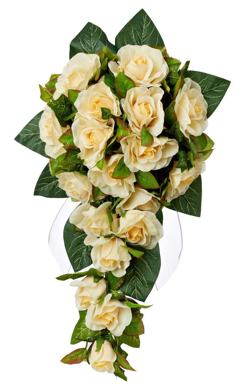 Yellow Silk Rose Cascade