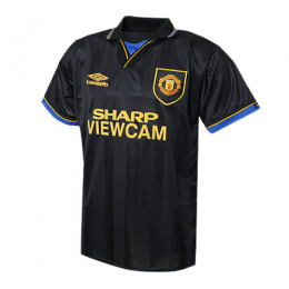 94 95 Manchester United Away Black Retro Jerseys Shirt Manchester Unite Retro Football Shirts Jersey Shirt Soccer Shirts