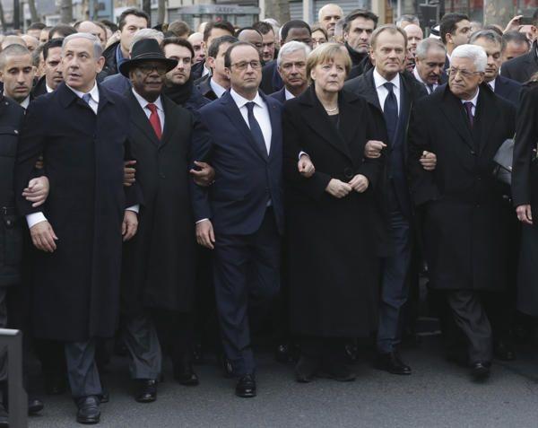 Los líderes políticos no encabezaron la manifestación de París, pese a las fotos | Blog de Noticias - Yahoo Noticias en Español