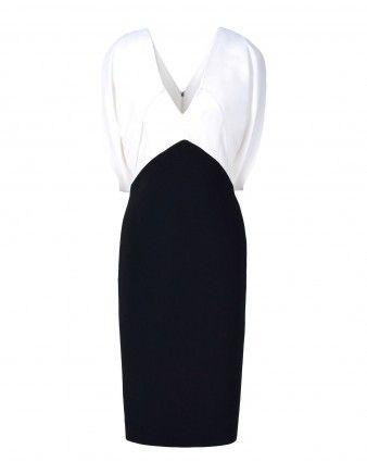 Draped Stretch-Crêpe Dress