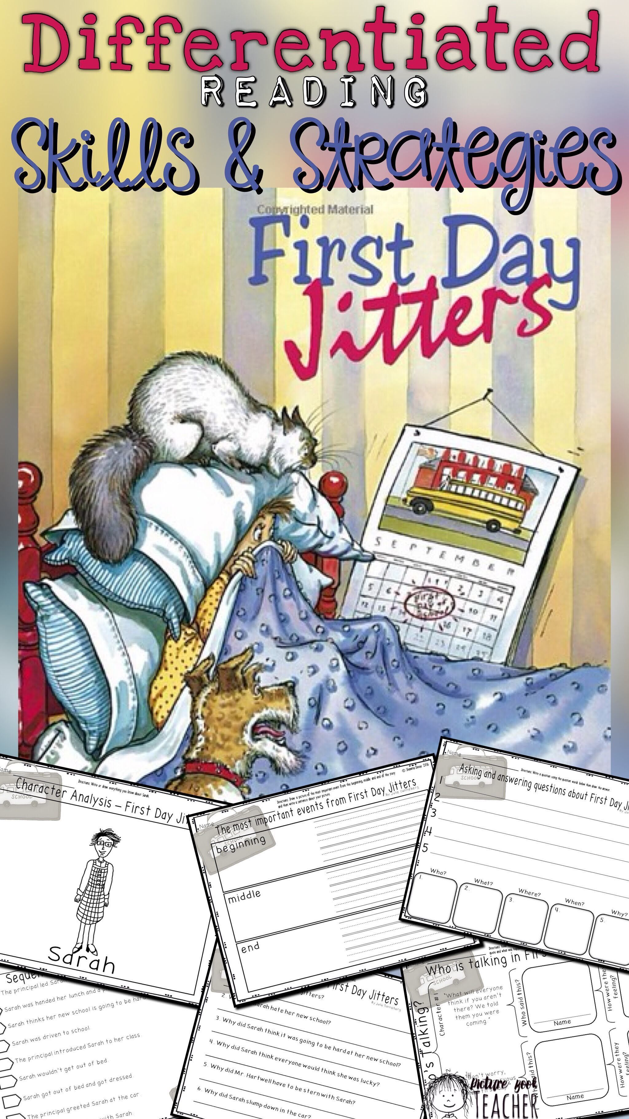 First Day Jitters Differentiated Reading Skills And