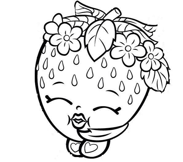 Shopkins Coloring Pages For Kids