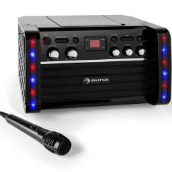 DiscoFever Karaoke-Anlage Cd-/cd+g-player iPad-Halterung Auna