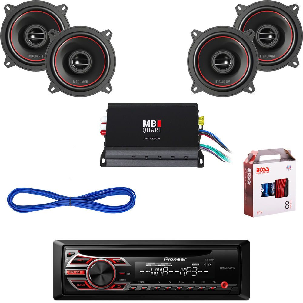 Deh 150mp Car Cd Aux Radio 2 525 Speakers Wires Amplifier Wiring Audio Amplifiers For Two
