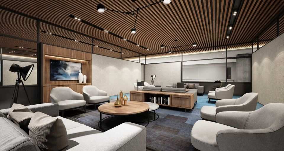 Swiss bureau interior design designed government agency office concept dubai uae