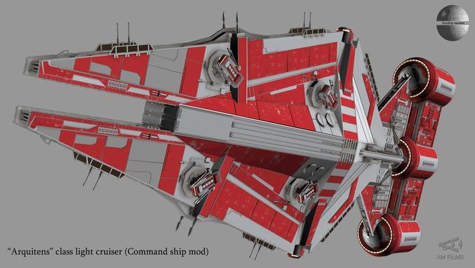 Arquitens Class Light Cruiser From Star Wars 3d Model Max 5 Star