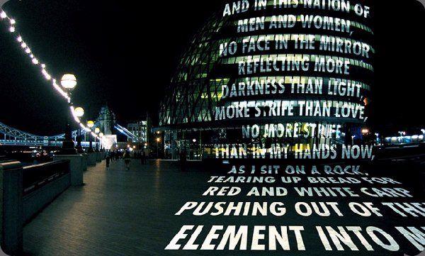 Light Projection On A London Building Jenny Holzer 2006