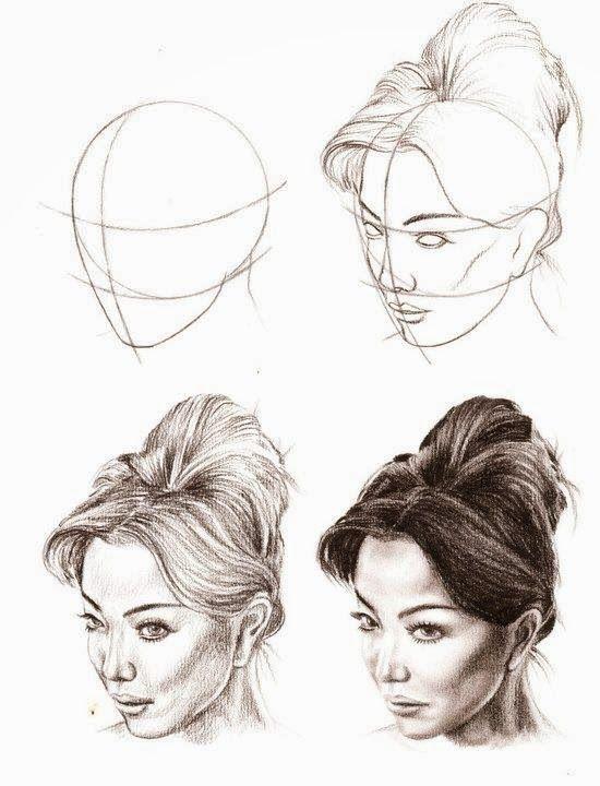 Apprendre Le Dessin Au Crayon : apprendre, dessin, crayon, Basics, Drawing, Faces, #pencildrawing, Portrait, Dessin,, Crayon,, Dessin, Visage