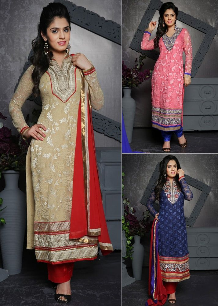 Today's Special Offer on Designer Embroidered Suits by Riti Riwaz ...