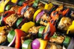 Committed to a Healthier Happier Me: Lemon Chicken and Veggie Skewers