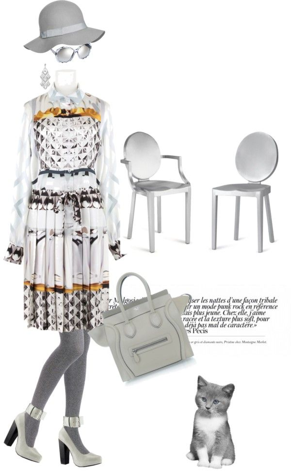 """Gray eminence"" by pensivepeacock ❤ liked on Polyvore"