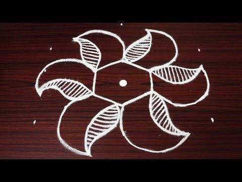 Simple Rangoli Designs With 7x4 Dots Easy Small Kolam Designs