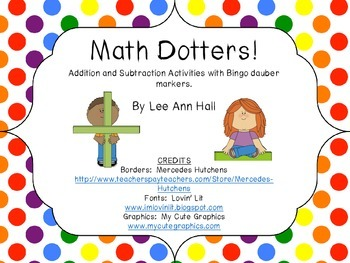 Addition and Subtraction Bingo Dauber Math Centers