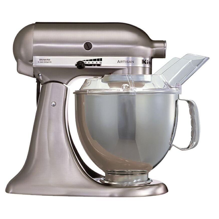 Kitchen aid artisan mixer brushed nickel ksm150bnk